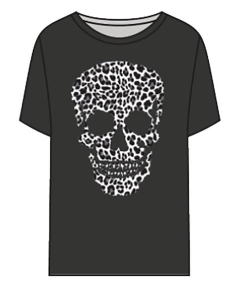 Chaser Chaser Leopard Skull Tee
