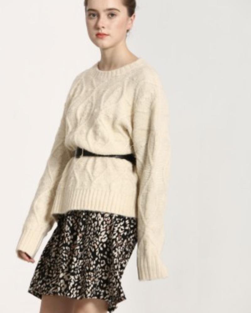 See U Soon See U Soon Cable Knit Sweater