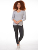 Dex Dex Long Sleeve V Neck Sweater