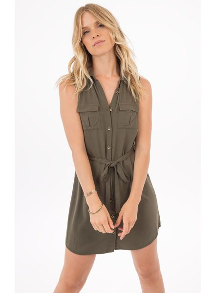 Rag poets Marra Button Down Shirt Dress