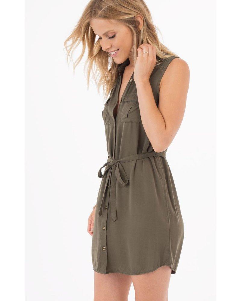 Rag poets Marra Button Down Shirt Dress