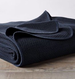 Coyuchi Honeycomb Blanket, Organic Cotton - Indigo