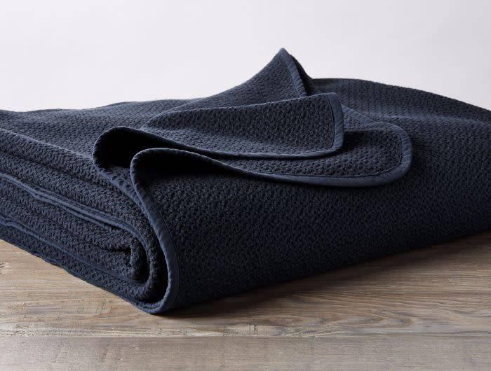 Coyuchi Honeycomb Blanket, Organic Cotton - Indigo
