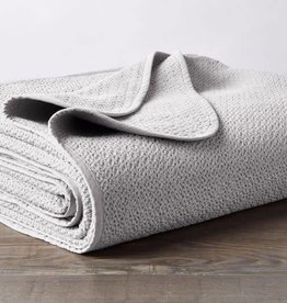 Coyuchi Honeycomb Blanket, Organic Cotton - Mid Gray