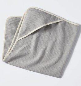 Coyuchi Mediterranean Hooded Towel, 0-24mo - Pewter