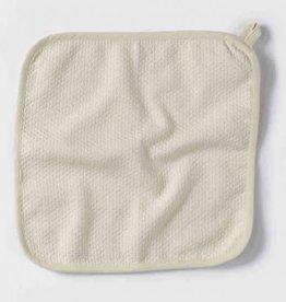 Coyuchi Mediterranean Wash Cloth, Set of 3 - Undyed