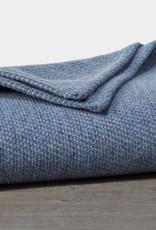"Coyuchi Sequoia Cotton + Wool Throw, 50"" x 70"" - Blue"