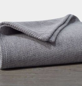 "Coyuchi Sequoia Cotton + Wool Throw, 50"" x 70"" - Gray"