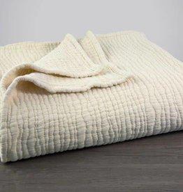 Coyuchi Wave Matelasse Baby Blanket - Undyed