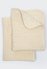 Coyuchi Wave Matelasse Burp Cloths, Set 2 - Undyed