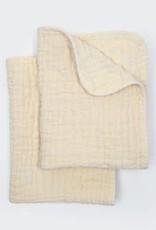 Coyuchi Wave Matelasse Burp Cloths, Set 2 - Undyed