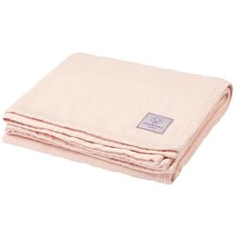 Faribault Woolen Mill Co. Baby Herringbone Cotton Blanket - Pink Cloud
