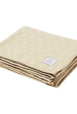 Faribault Woolen Mill Co. Baby Herringbone Cotton Blanket - White/Sand