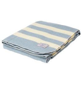 Faribault Woolen Mill Co. Baby Trapper Wool Blanket - Dusty Blue
