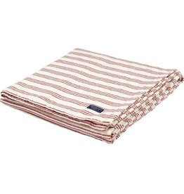 Faribault Woolen Mill Co. Beacon Stripe Cotton Throw - White/Red