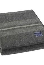 Faribault Woolen Mill Co. Cabin Wool Throw - Charcoal/Heather/Natural