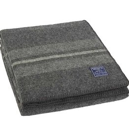 "Faribault Woolen Mill Co. Cabin Wool Throw, 50"" x 72"" - Charcoal/Heather/Natural"