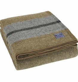 Faribault Woolen Mill Co. Scout Wool Blanket - Olive