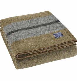 """Faribault Woolen Mill Co. Scout Wool Bunk Blanket, 64"""" x 90"""" - Olive"""