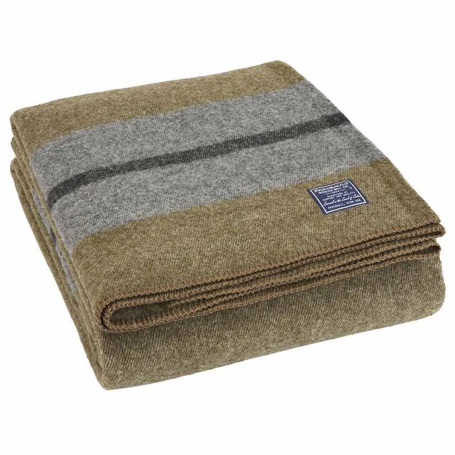 Faribault Woolen Mill Co. Scout Wool Blanket - Olive