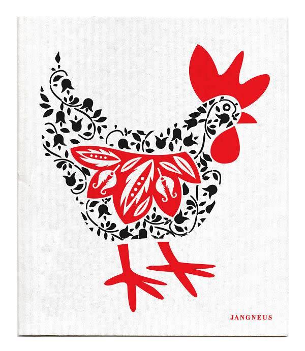 Jangneus Black Hen Swedish Dishcloth