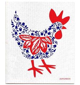 Jangneus Blue Hen Swedish Dishcloth