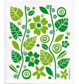 Jangneus Green Garden Swedish Dishcloth
