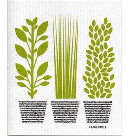 Jangneus Green Herbs Swedish Dishcloth