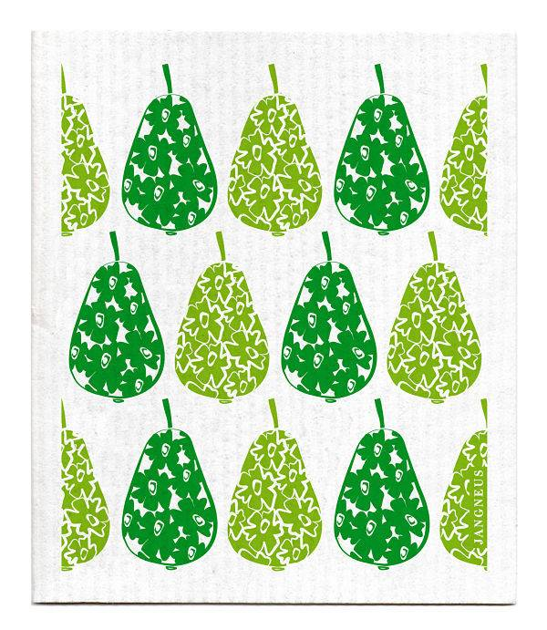 Jangneus Green Pears Swedish Dishcloth