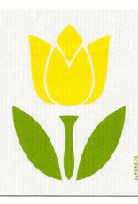 Jangneus Large Yellow Tulip Swedish Dishcloth