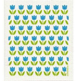 Jangneus Small Turquoise Tulip Swedish Dishcloth
