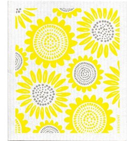 Jangneus Yellow Sunflower Swedish Dishcloth