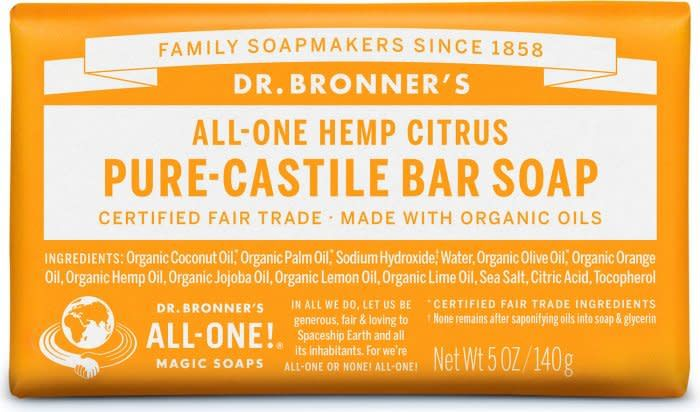 Dr. Bronner's Pure-Castile Bar Soap – Citrus Orange