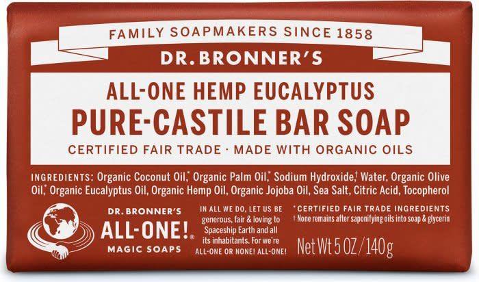 Dr. Bronner's Dr. Bronner's Castile Bar Soap, Eucalyptus 5 oz.
