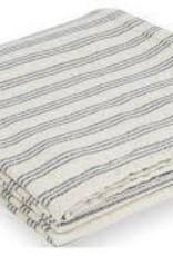 Faribault Woolen Mill Co. Beacon Stripe Cotton Throw - White/Navy