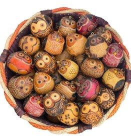 Lucuma Owl Gourd Ornament