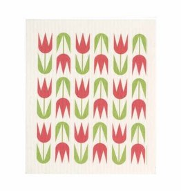 Cose Nuove Red Tulips Swedish Dishcloth