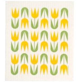 Cose Nuove Yellow Tulips Swedish Dishcloth