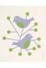 Cose Nuove Two Blue Birds Swedish Dishcloth