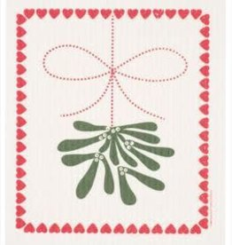 Cose Nuove Mistletoe Swedish Dishcloth