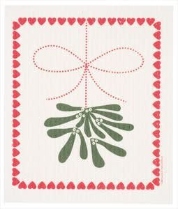 Cose Nuove Mistletoe Swedish Dishcloth