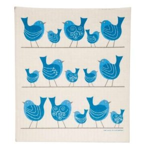 Cose Nuove Birds on a Wire Swedish Dishcloth