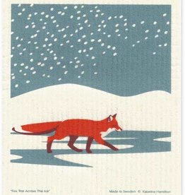 Cose Nuove Fox in Snow Swedish Dishcloth