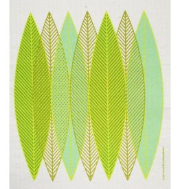 Cose Nuove Green Leaf Blades Swedish Dishcloth