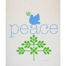 Cose Nuove Peace Swedish Dishcloth