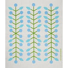 Cose Nuove Blue Berry Branch Swedish Dishcloth