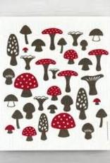 Cose Nuove Mushrooms Swedish Dishcloth