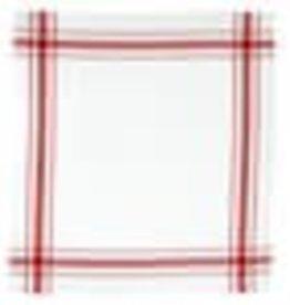 "Libeco Belgian Linens Camaret Tea Towel, 27"" x 27"" - Red"