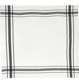 """Libeco Belgian Linens Camaret Tea Towel, 27"""" x 27"""" - Black"""