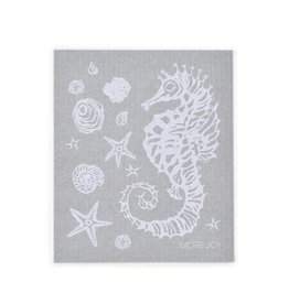 Sweetgum Seahorse Grey Swedish Dishcloth